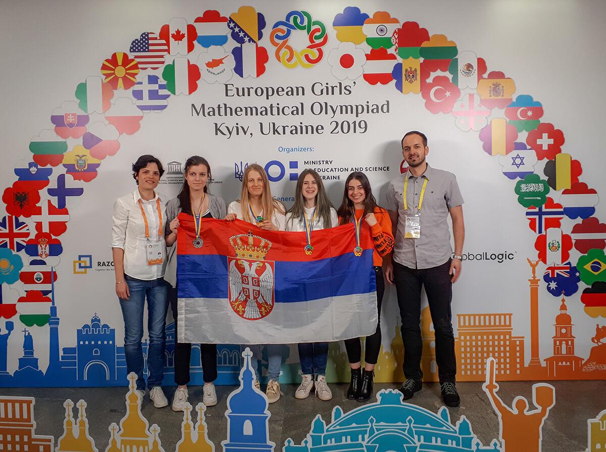 Mlade matematičarke osvojile medalje na Evropskom takmičenju u Kijevu