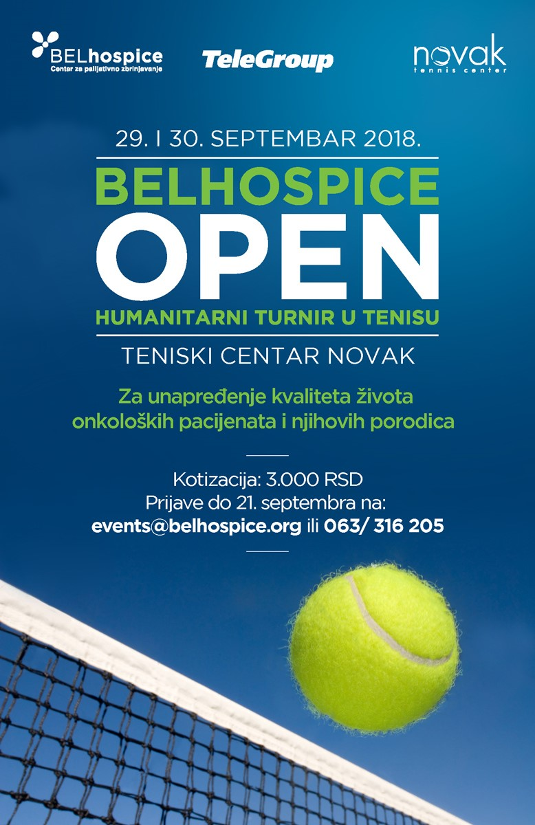 TeleGroup for the first time on BELhospice charity tournament in tennis